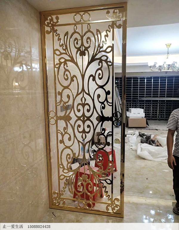 欧式不锈钢屏风,让室内装饰更豪华